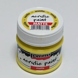Akrylová barva Pentart 50ml - vanilková, matná