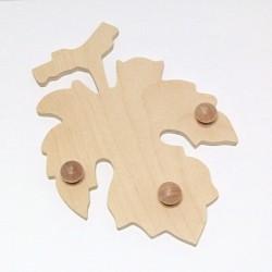 Věšák ve tvaru listu