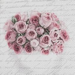 Pink rose in vase 33x33