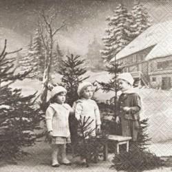 Děti u chalupy 33x33
