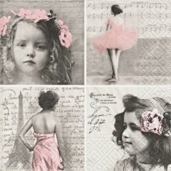 Pařížanka, baletka a dívky 33x33