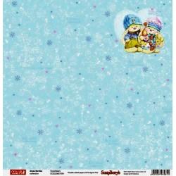 Xmas Berries, Snowflakes,oboustranný 30,5x30,5cm