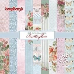 Sada papírů Butterflies 15x15