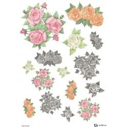 Papír rýžový A4 Barevné růžičky