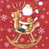 Santa na houpacím sobovi 33x33