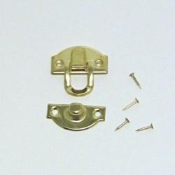 Kovový zámeček - zlatá barva