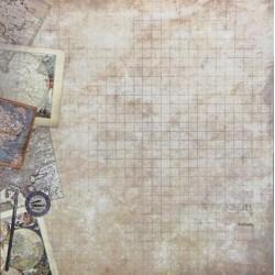 Vintage mapy 30x30 scrapbook