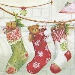 Vánoční ponožky na provázku 33x33