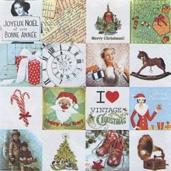 I love Vintage Christmas 33x33