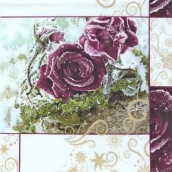 Ojíněné růže 33x33