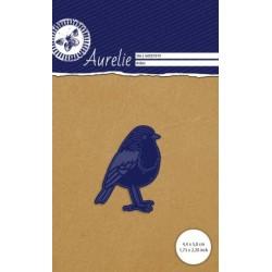 Vyřezávací šablona Aurelie - ptáček červenka