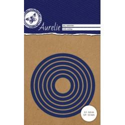 Vyřezávací šablony Aurelie - kruhy hladké 6ks