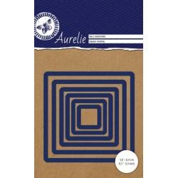 Vyřezávací šablony Aurelie - čtverce hladké 6ks