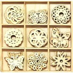 Dřevěné ozdoby Motýlci, 10,5x10,5cm
