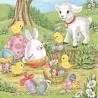 Velikonoční se zvířátky 33x33