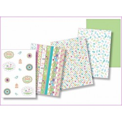 Sada 5ks - pergamenový papír 150g - Kolekce Letní zahrada