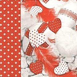 Červenobílý s vajíčky 33x33