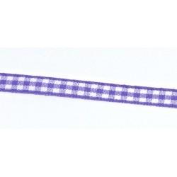 Stužka 7mm káro - fialová