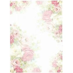 Papír rýžový A4 Růže, matný