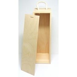Dřevěná krabice na víno se zasouvacím krytem II.