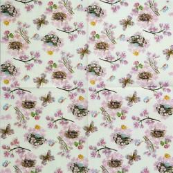 Ptačí hnízda, růžové květy 33x33
