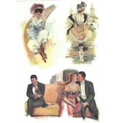 Papír rýžový A4 Vintage motivy s ženami