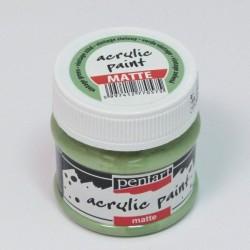 Akrylová barva Pentart 50ml - vintage zelená, matná