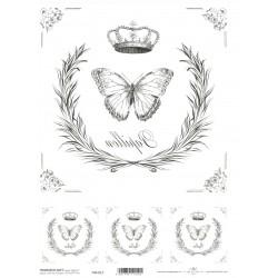 Papír pro transfér 1ks - Papillon (40g)