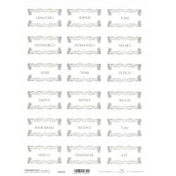 Papír pro transfér 1ks - Štítky na kořenky malé obdélníky (40g)