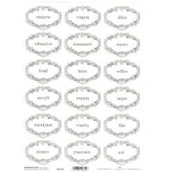 Papír pro transfér 1ks - Štítky na kořenky oválné (40g)