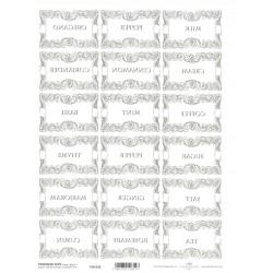 Papír pro transfér 1ks - Štítky na kořenky velké obdélníky (40g)