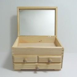 Komodka se třemi šuplíčky, zrcadlo (RO)