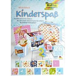Blok vzorovaných papírů 26 listů - Dětský
