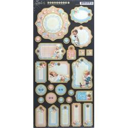 Kartonové výseky Precious Memories 15x30cm (graphic45)
