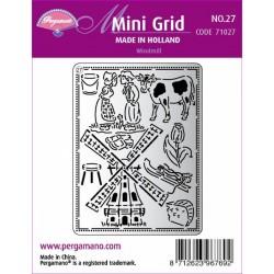 Mřížka Mini grid č.27 - Větrný mlýn