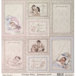 Vintage Baby, Ephemera cards 30,5x30,5cm (MD)