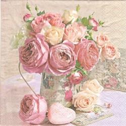Růže v plechové nádobě 33x33