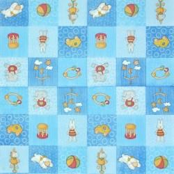 Hračky v modré 33x33