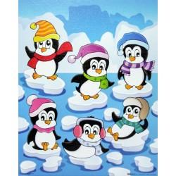 Reprodukce obrazu 24x30 - tučňáci