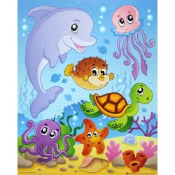 Reprodukce obrazu 24x30 - mořské rybky