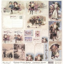 Vintage Frost Basocs, Christmas diecuts 30,5x30,5cm (MD)