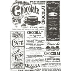 Papír rýžový A4 Chocolate černobílý