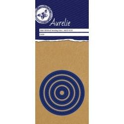 Vyřezávací šablony Aurelie - kruhy se stehy 4ks