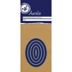 Vyřezávací šablony Aurelie - ovály se stehy 4ks