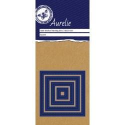 Vyřezávací šablony Aurelie - čtverce se stehy 4ks