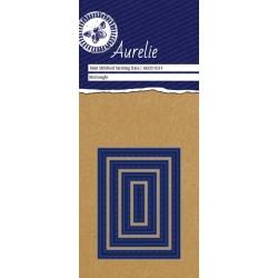 Vyřezávací šablony Aurelie - obdélník se stehy, 4ks