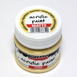 Akrylová barva Pentart 50ml - bílá káva, matná