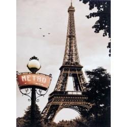 Reprodukce obrazu 18x24 Paris, Tour Eiffel, Metro