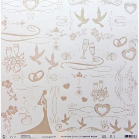 Svatba 30,5x30,5 designový papír