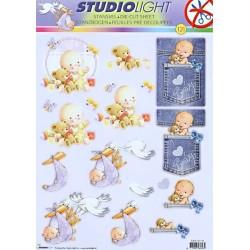 Papírové výseky A4 - miminko (SL)